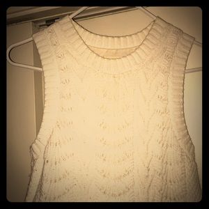Cream fossil sweater dress